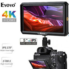 "Eyoyo 5"" 4K HDMI HD Camera-top Monitor 1920x1080 IPS For Gimbals Canon 5D Nikon"