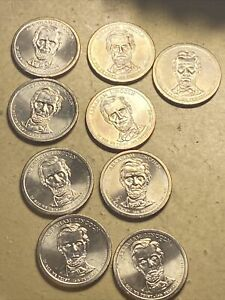 9 2010-P Abraham Lincoln Dollar Coins With Die Fragment Bleeding Left Shoulders
