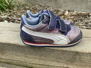 Puma Athletic Running Shoes Toddler Girl's Size 6 Glitter Purple