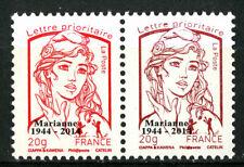 Marianne de CIAPPA la paire . Y&T n° 4767 surchargé 1944-2014 du BF 4774B