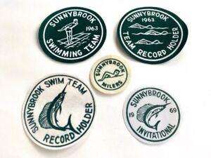 Sunnybrook Swim Team Patches lot of 5 Vintage 1960's - Pennsylvania