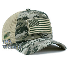 USA American Flag hat Detachable Patch Micro Mesh Tactical Operator Military cap