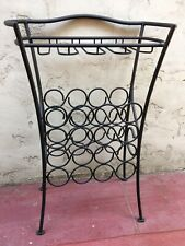 Vintage Mid Century Wrought Iron Wine Rack Plus Glasses - Plant Stand Pot Holder
