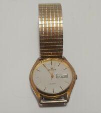 Vintage Waltham Quartz XDO16 065 Mens wrist Watch St Steel