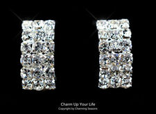 White Gold Plated Clip - On Fashion Earrings
