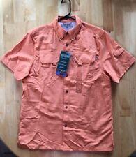 NWT Mens FIELD & STREAM Universal Travel Shirt UV Protection Orange Med M $60