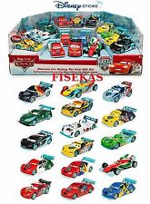 Disney Store Exclusive Die Cast Ultimate Ice Racing Cars 16 pc Race Gift Set NEW