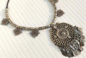 Handmade Rare Vintage Banjara Tribal Afghan Kuchi Gypsy Ats Pendant Necklace