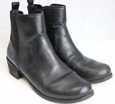 UGG Keller Croco Womens Leather Ankle Boot Sheepskin Insole Black Size 9.5