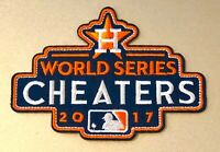 "Houston Astros 2017 WORLD SERIES CHAMPIONS CHEATERS Patch MLB 3"" Iron or Sew On"
