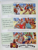 1939 RC Royal Crown Cola Lifeguard  Soda Color  Original Ad