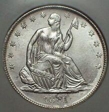 1861 O SILVER Half Dollar NGC SHIPWRECK EFFECT SS Republic W-08 LOUISIANA ISSUE