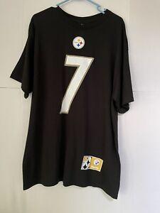 MAJESTIC NFL PITTSBURGH STEELERS  Ben Roethlisberger #7  black shirt  size XL
