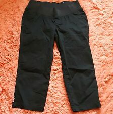 NWOT Old Navy Maternity Sz 8 Capris Black Stretch Crop Pants OLX Demi Brand New