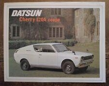 DATSUN CHERRY 120A COUPE orig c1973 UK Mkt Sales Leaflet Brochure