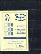 HAGNER ORIGINAL STOCK SHEETS PACK OF 10 5  ROWS  SINGLE SIDE