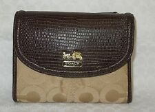 NWT COACH MADISON OP ART SATEEN MEDIUM WALLET 46643 $128