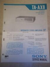 Sony Service Manual~TA-AX8 Amplifier/AMP~Original~Repair