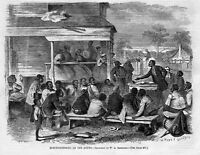 FREEDMEN'S BUREAU SLAVES NEGROES ELECTIONEERING AT THE SOUTH 1868 BLACK HISTORY