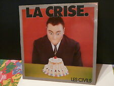 "MAXI 12"" Promo LES CIVILS La crise MLANKIN SA 3019 French rock"