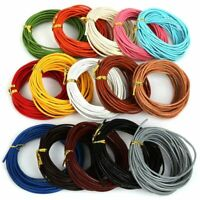 1-3mm 5M Artificial Leather Cord Round Rope String For Jewelry Making Craft DIY