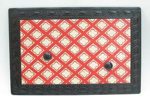 Antique Style Metal Message Bulletin Board with Magnets 12x18 Red