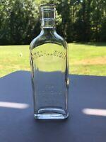 ANTIQUE GLASS BOTTLE -CREOMULSION FOR COUGHS- LARGER OLD MEDICINE BOTTLE B28
