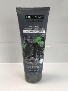 Freeman Feeling Beautiful Polishing Charcoal Black Sugar, 6 fl oz, new!