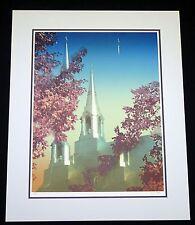 """1984 Canada/Japan 15/55 Color Print """"Canadian Church"""" by Gaston Petit (Par)"""