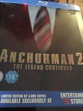 Anchorman 2 Steelbook (Blu Ray Region Free) Factory Sealed FAST SHIPPING