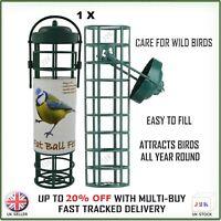 Wild Bird Fat Ball Hanging Feeder - Garden Easy Fill Suet Dry Seed Nut Peanut