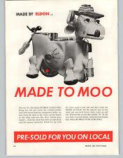1962 PAPER AD 2 PG Eldon Bubble Gum Cow Bowl A Matic Bowling Game