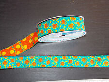 1m 30mm teal orange jacquard embroidered ribbon lace applique motif trimming