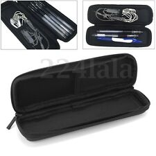 Black Pencil Pen Case Cosmetic Zipper Pouch Brush Holder Makeup Storage Bag New