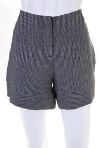 Nicholas Womens Shorts Size 8 Black White Printed Spiral Pants $395 10867361