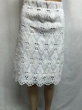 KATIES SIZE 10 GORGEOUS WHITE LACE SCALLOPED HEM SKIRT ,SPECIAL OCCASION