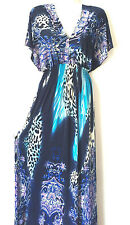 Women PLUS Size Sundress Summer Dress 1X 2X 3X Long Maxi Leopard Print