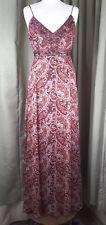 Monsoon 100% Silk Red Strap Maxi Dress UK8 EU36