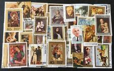 "40 DIFF. X-tra LARGE COMMEMO. STAMPS ON ""PAINTINGS"", FU, # 57"