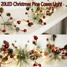 2M 20LEDs Christmas Pine Star String Fairy Lights Party Wedding Tree Decoration