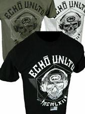 Mens ECKO UNLTD T-Shirt SOUND WAVES SKULL HEADPHONES in Black White or Olive