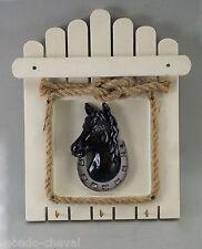 PORTE-CLEFS MURAL, tête de cheval, 3 crochets