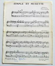 Partition vintage music sheet MARCEL AZZOLA : Simple et Musette * 60's Accordéon