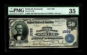 1902 $50 Paducah Kentucky PMG VF 35