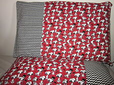Snoopy with mustache pattern 100% new Cotton handmade Pillowcase one pair