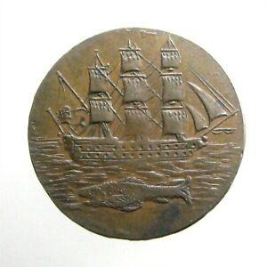 1796 LARGE HALF PENNY ___Conder Token___PORTSEA HAMPSHIRE UK___Man of War