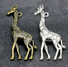 Tibet silver charm beautiful giraffe pendant 4-50pcs 52x22mm 4.4.g