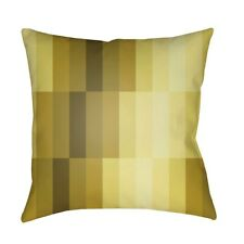 Modern by Surya Pillow, Yellow/Olive/Dk.Brown, 18' x 18' - MD079-1818