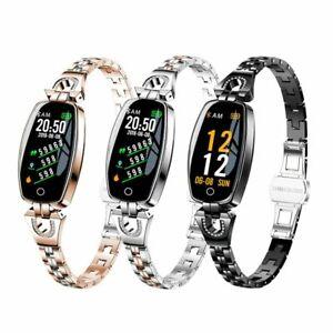 Women Waterproof Heart Rate Monitoring Bluetooth Fitness Bracelet smart watch