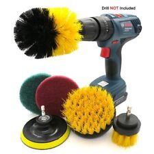 6Pcs Multipurpose Drill Brush Attachment Set Scrubber Brush  Scouring Scrub Pads